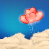 Heart Balloon in Cloudscape Royalty Free Stock Images