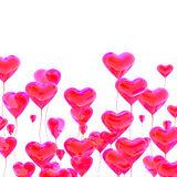 Heart balloon colored red Royalty Free Stock Image
