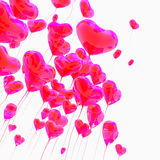 Heart balloon colored red Stock Photo