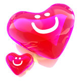 Heart balloon colored red Stock Images