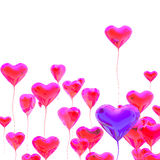 Heart balloon colored red for valentines Royalty Free Stock Photo