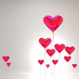 Heart balloon colored red for valentines day Stock Photography