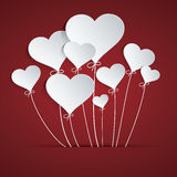 Heart Balloon. Easy to use, modify, adjust color and size. Shadow are made with transparency set to Multiply royalty free illustration