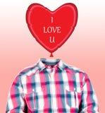 Heart balloon head Royalty Free Stock Photo