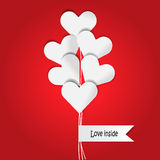 Heart Balloon in red background Stock Images