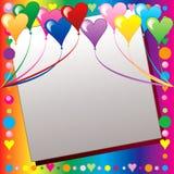 Heart Balloon Template Stock Photography