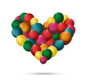 Heart balloon vector Stock Image