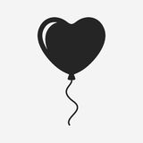 Heart balloon. Vector icon isolated on grey background Stock Image