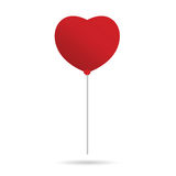 Heart balloon vector in red Stock Photo