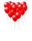 Heart Balloons Stock Photo