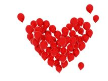 Heart from balloons Royalty Free Stock Images