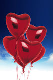 Heart balloons Stock Images