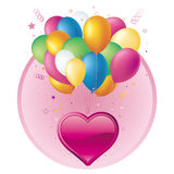 Heart and balloons Royalty Free Stock Photography
