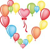 Heart from balloons Royalty Free Stock Photos