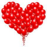 Heart balloons Stock Photography