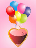 Heart with balloons Royalty Free Stock Photo