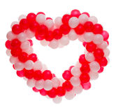 Heart balloons. Heart from white and red balloons Stock Photography