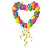 Heart of balloons Royalty Free Stock Images