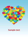 Heart balloons. Symbol, flying colorful balloons Stock Image