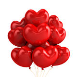Heart balloons. 3D flying heart balloons- isolated Stock Photos