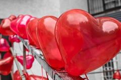 Heart balloons Stock Image