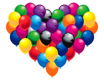 Heart of balloons. Colorfully floating Royalty Free Illustration