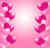 Heart balloons background Stock Photography