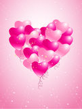 Heart balloons background Royalty Free Stock Images