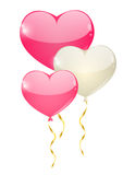 Heart balloons background Stock Photos