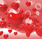 Heart Balloons On Background Means Passion Stock Photo