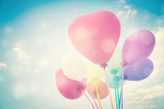 Heart Balloons. Background For Valentines Day,Cool Look Royalty Free Stock Photo