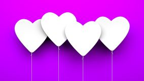 Heart Balloons on blue background Royalty Free Stock Image