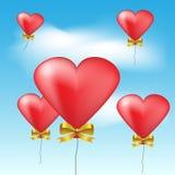 Heart balloons Stock Photos
