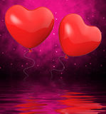 Heart Balloons Displays Mutual Attraction And Affection Royalty Free Stock Images