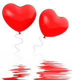 Heart Balloons Displays Togetherness Affection And Attraction Royalty Free Stock Image