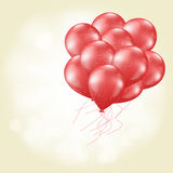 Heart balloons flying Stock Photography