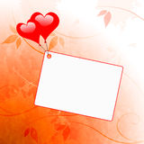 Heart Balloons On Note Means Wedding Invitation Royalty Free Stock Images