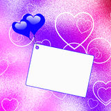 Heart Balloons On Note Shows Love Letter Or Royalty Free Stock Images