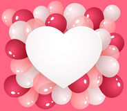 Heart with balloons Royalty Free Stock Images