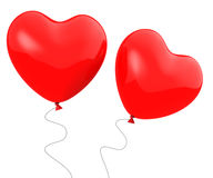 Heart Balloons Show Togetherness Affection Royalty Free Stock Photography