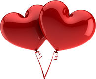 Heart balloons total red Royalty Free Stock Photo