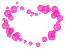 Heart of balls. Heart of many pink and shining balls Royalty Free Stock Photography