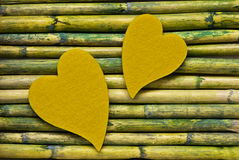 Heart on bamboo Royalty Free Stock Photos