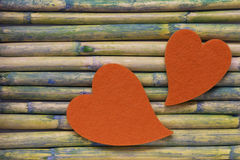 Heart on bamboo Royalty Free Stock Images