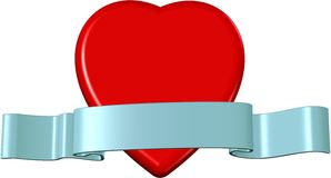 Heart and band. Valentine theme. Abstract symbol of love Stock Photography