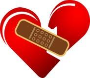 Heart bandage Royalty Free Stock Image