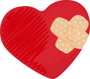 Heart Bandage Royalty Free Stock Photos