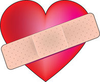 Heart Bandaid Royalty Free Stock Image