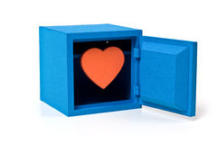 Heart in the bank safe Royalty Free Stock Image
