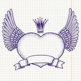 Heart banner vector illustration